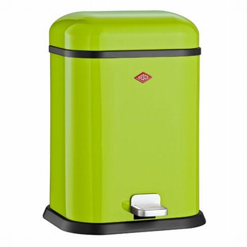 Wesco Single Boy 13 liter afvalemmer lime green.  (per stuk)