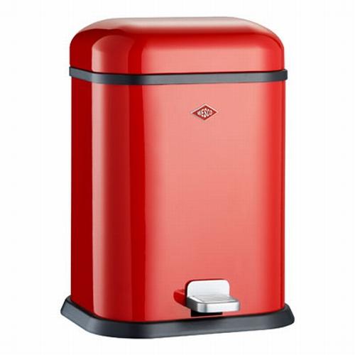 Wesco Single Boy 13 liter afvalemmer rood.  (per stuk)