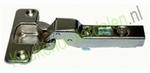Meubelscharnier voor tussenwand met grondplaat dekking 6mm (per stuk)