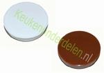 2 stuks afdekkap ø 35 mm voor scharniergat kleur BRUIN (per 2 stuks)
