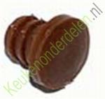 Deurdemper in zachte kunststof, diameter boring 5mm bruin (per 10 stuks)