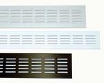 Luchtrooster aluminium 50 cm x 8 cm (per stuk)