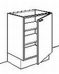 Onderkast zonder front 40 tot 50 cm breed d-max65cmh-max85cm (per stuk)