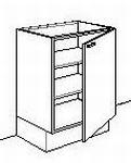 Onderkast zonder front 60 tot 70 cm breed d-max65cmh-max85cm (per stuk)