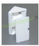 Verbinder wit kunststof voor constructiebodem (per stuk)