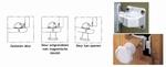 Veiligheids (magneet) kastslot Verpakt per 2 stuks (per 2 stuks)