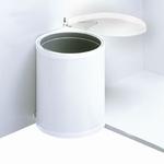 Hailo Mono 15 liter afvalemmer wit. (per stuk)