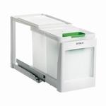 Stala model 2 PK - 2 x 10 liter afvalemmer wit. (per stuk)