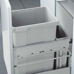 Hailo Euro-Cargo-Front 42 liter afvalemmer grijs.  (per stuk)