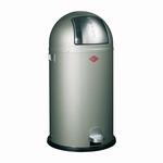 Wesco Kickboy 40 liter afvalemmer nieuw zilver. (per stuk)
