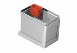 Afvalemmer STALA voor kastbreedte 300 toepasbaar  grijs (per stuk)