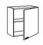 Bovenkast met 1 deur zonder front 30 tot 40 cm breed (per stuk)