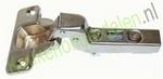 Meubelscharnier 110° (inliggend) compl.met grondplaat (clip) (per stuk)
